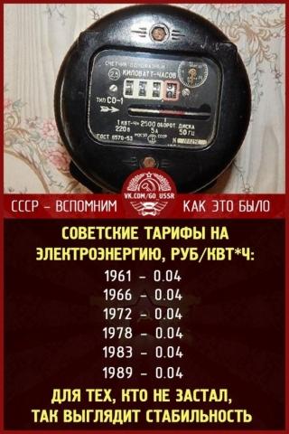 Тарифы и цены в СССР
